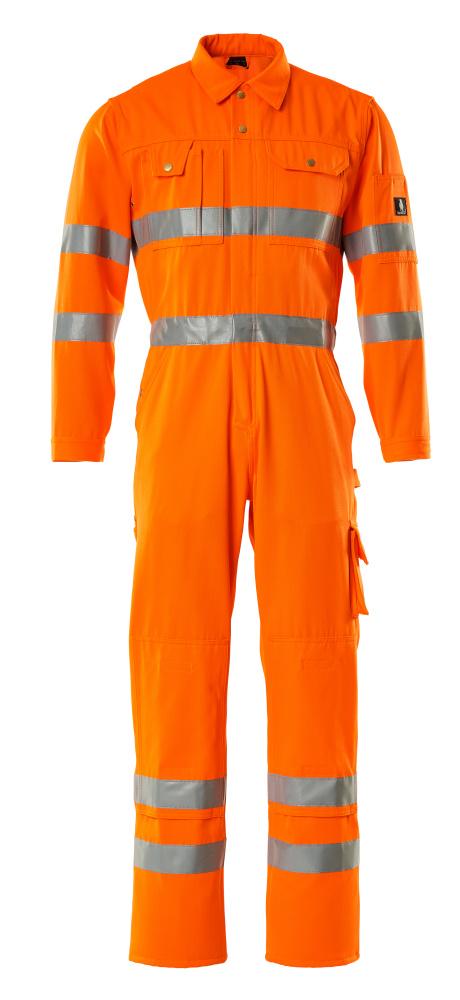 00419-860-14 Mono con bolsillos para rodilleras - naranja de alta vis.