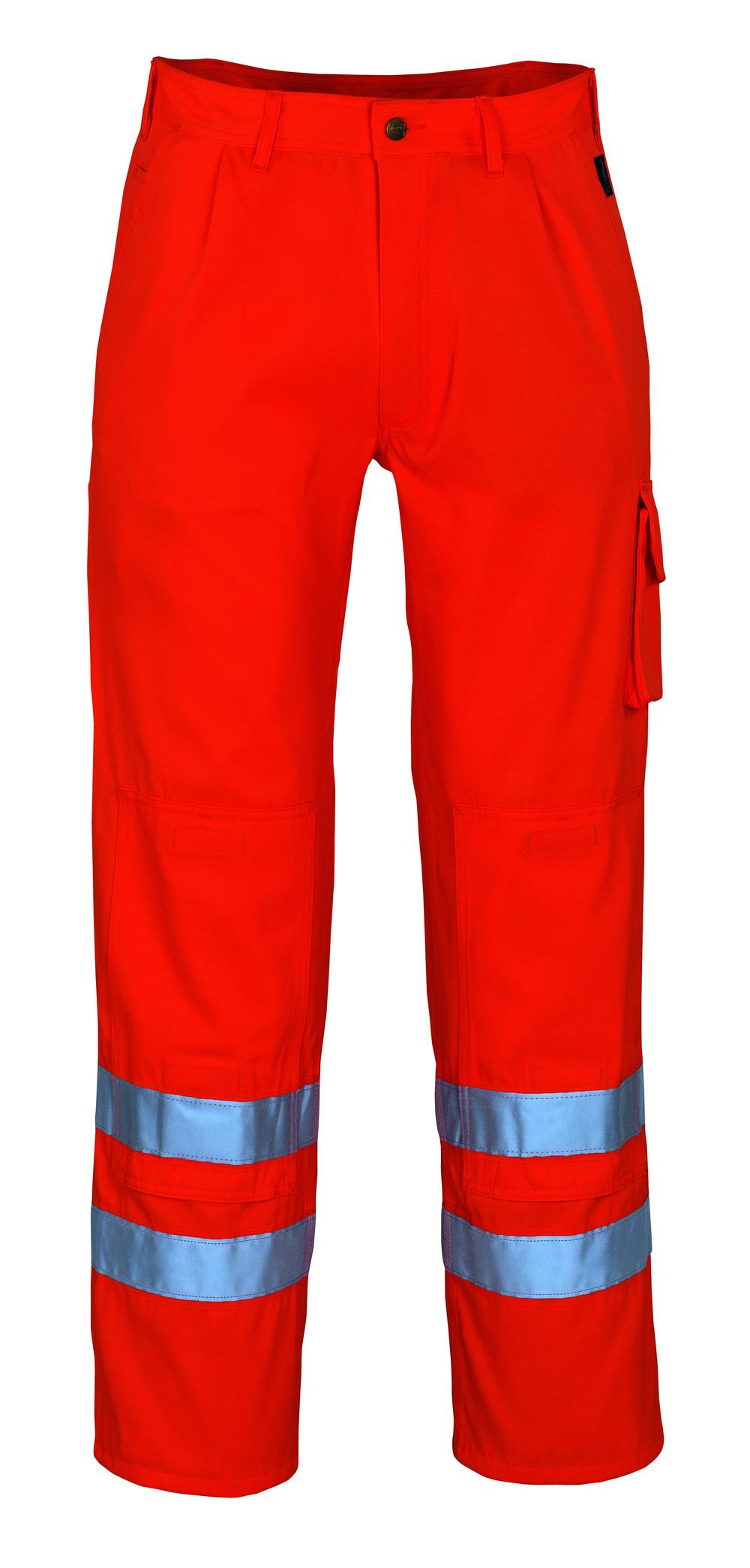 00479-860-14 Pantalones con bolsillos para rodilleras - naranja de alta vis.