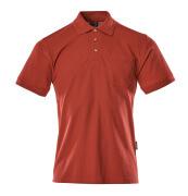 00783-260-02 Polo con bolsillo en el pecho - rojo