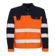 00909-860-141 Chaqueta - naranja de alta vis./azul marino