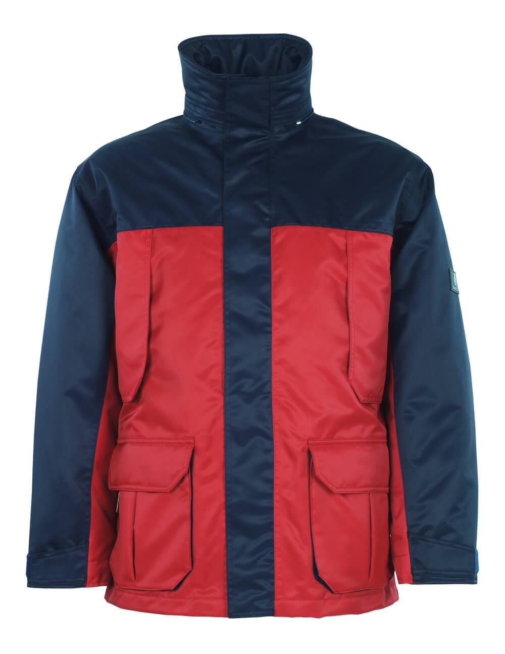 00930-650-21 Chaqueta parka - rojo/azul marino