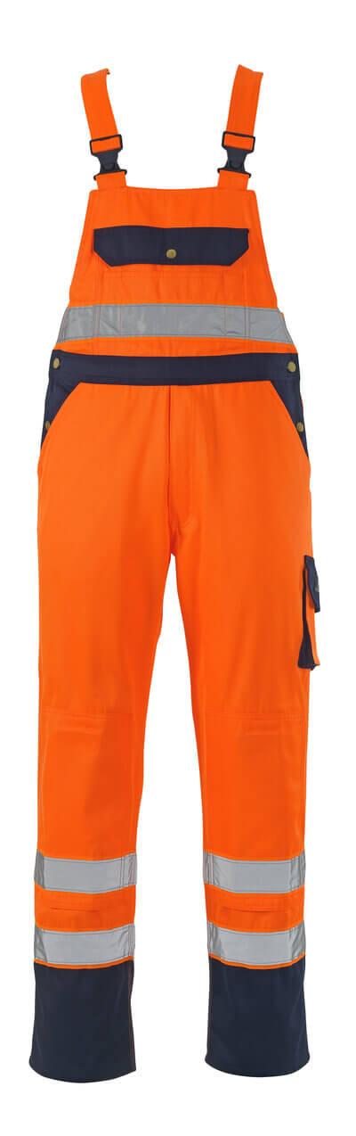 00969-860-141 Peto con bolsillos para rodilleras - naranja de alta vis./azul marino