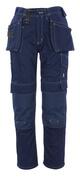 06131-630-01 Pantalones con bolsillos para rodilleras y bolsillos tipo funda - azul marino