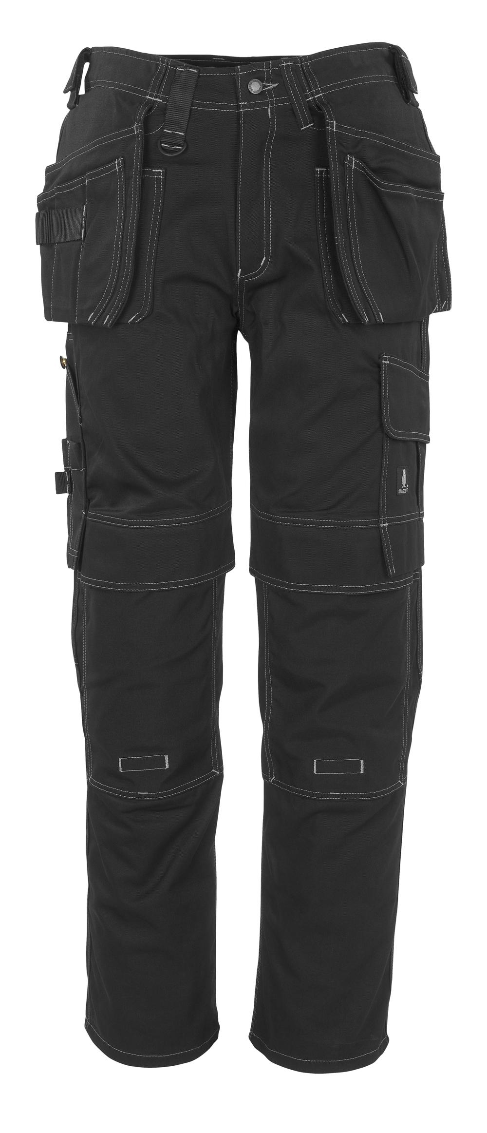 06131-630-09 Pantalones con bolsillos para rodilleras y bolsillos tipo funda - negro