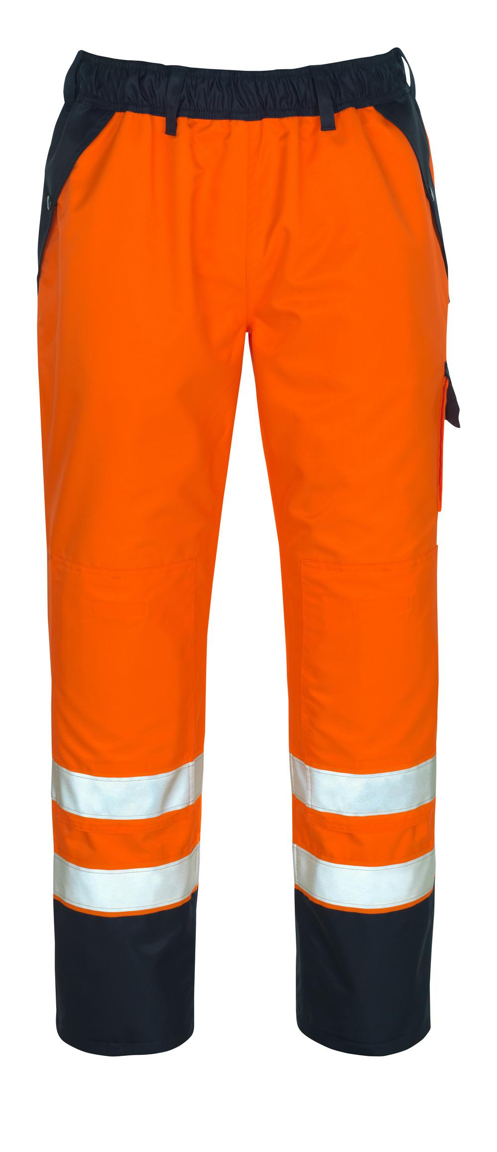 07090-880-141 Cubre pantalón con bolsillos para rodilleras - naranja de alta vis./azul marino