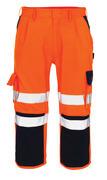 07149-860-141 Pantalones con longitud de ¾ con bolsillos para rodilleras - naranja de alta vis./azul marino