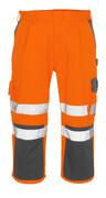 07149-860-14888 Pantalones con longitud de ¾ con bolsillos para rodilleras - naranja de alta vis./antracita