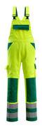 07169-470-1703 Peto con bolsillos para rodilleras - amarillo de alta vis./verde