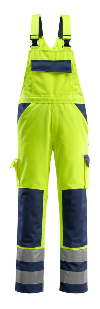 07169-470-171 Peto con bolsillos para rodilleras - amarillo de alta vis./azul marino
