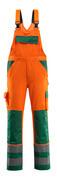 07169-860-1403 Peto con bolsillos para rodilleras - naranja de alta vis./verde