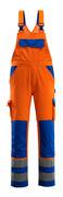 07169-860-1411 Peto con bolsillos para rodilleras - naranja de alta vis./azul real