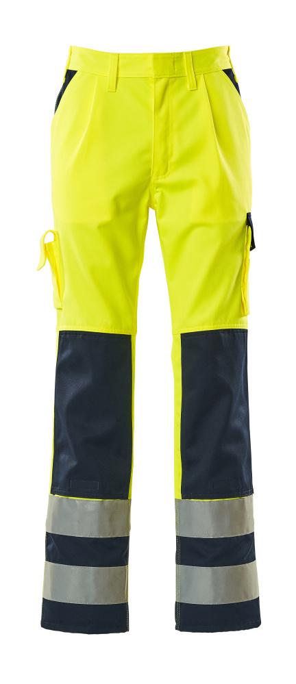 07179-470-171 Pantalones con bolsillos para rodilleras - amarillo de alta vis./azul marino