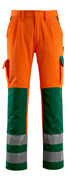 07179-860-1403 Pantalones con bolsillos para rodilleras - naranja de alta vis./verde