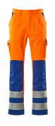 07179-860-1411 Pantalones con bolsillos para rodilleras - naranja de alta vis./azul real