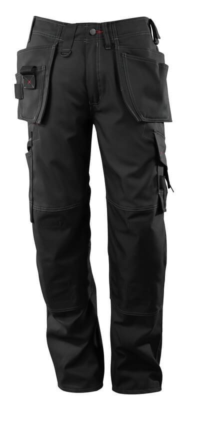 07379-154-09 Pantalones con bolsillos para rodilleras y bolsillos tipo funda - negro