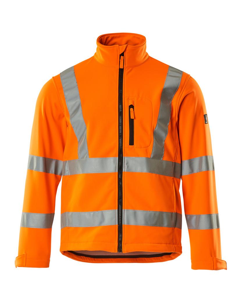 08005-159-14 Chaqueta Softshell - naranja de alta vis.