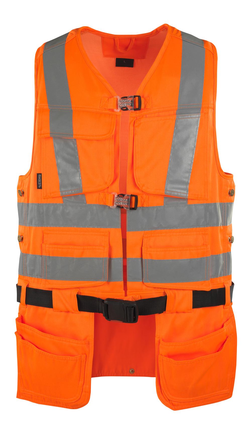 08089-860-14 Chaleco para herramientas - naranja de alta vis.