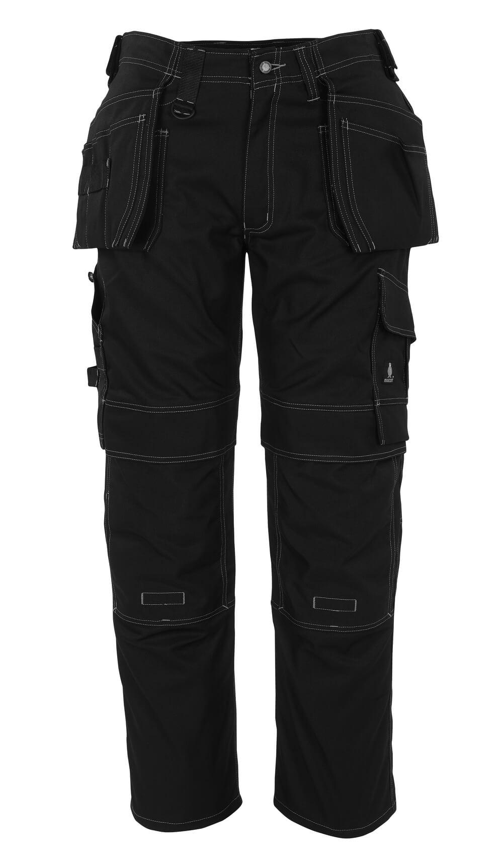 08131-010-09 Pantalones con bolsillos tipo funda - negro