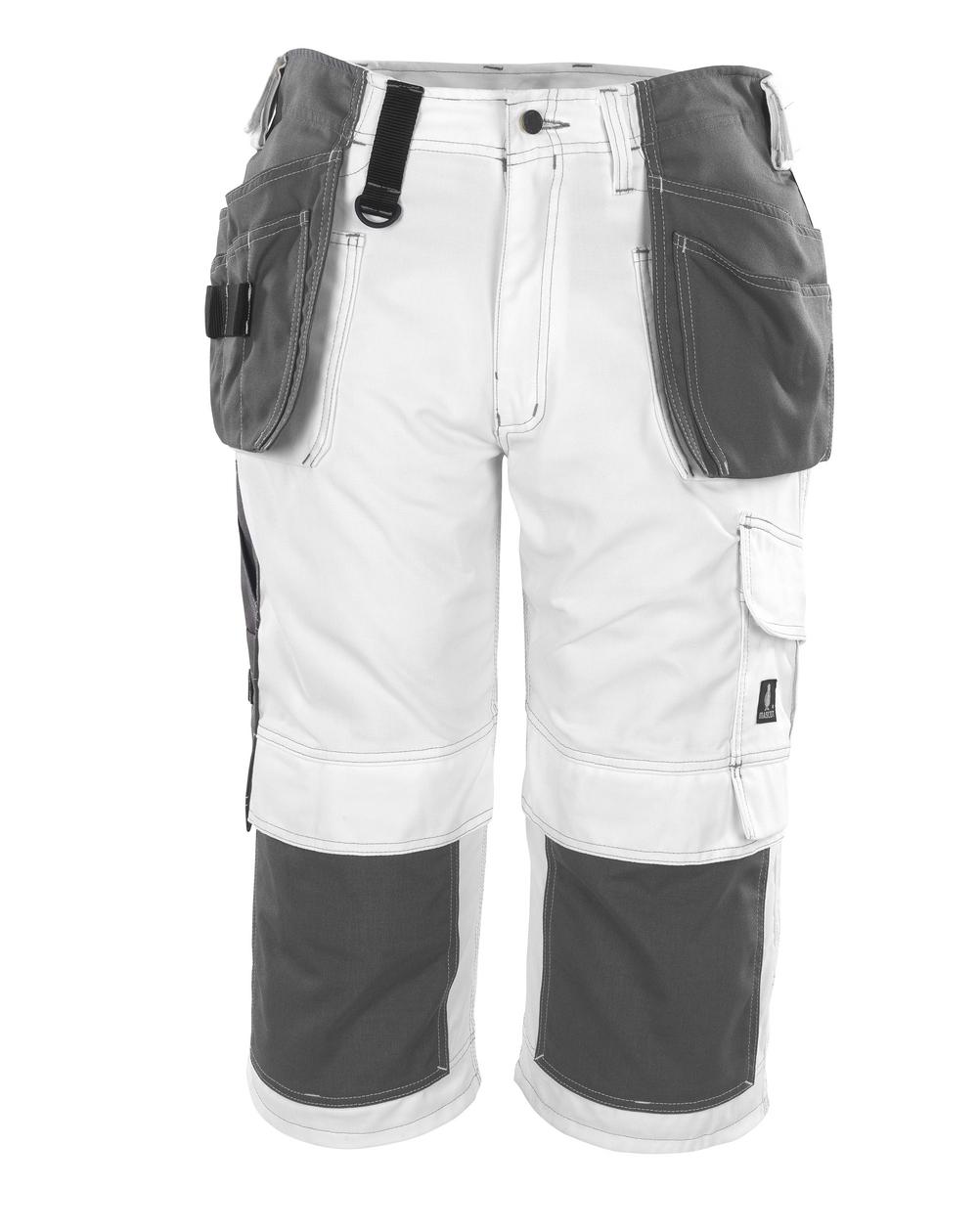 08349-154-06 Pantalones con longitud de ¾ con bolsillos para rodilleras y bolsillos tipo funda - blanco
