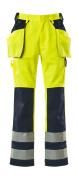 09131-470-171 Pantalones con bolsillos tipo funda - amarillo de alta vis./azul marino