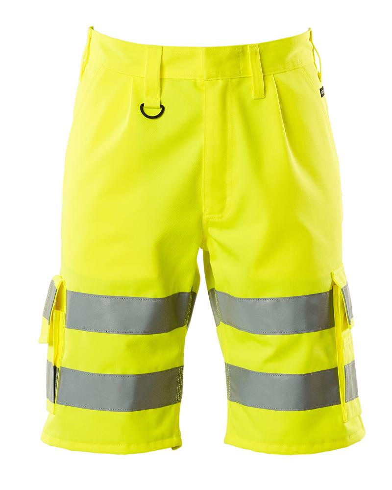 10049-470-17 Pantalones cortos - amarillo de alta vis.