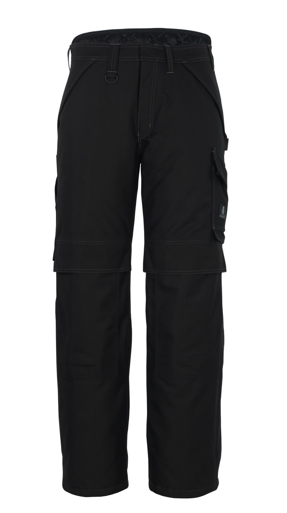 10090-194-09 Pantalones de invierno con bolsillos para rodilleras - negro