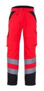 11090-025-A49 Pantalones de invierno - rojo de alta vis./antracita oscuro