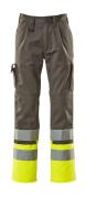 12379-430-88817 Pantalones con bolsillos para rodilleras - antracita/amarillo de alta vis.