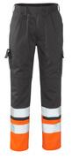 12379-430-B01 Pantalones con bolsillos para rodilleras - antracita/naranja de alta vis.
