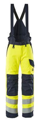 13892-217-17010 Pantalones de invierno - amarillo de alta vis./azul marino oscuro