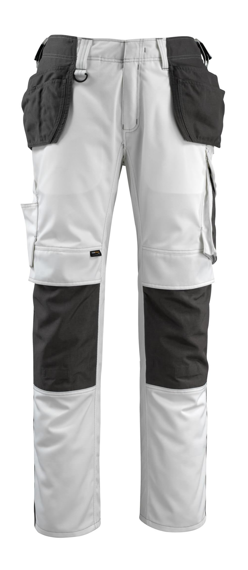 14031-203-0618 Pantalones con bolsillos para rodilleras y bolsillos tipo funda - blanco/antracita oscuro