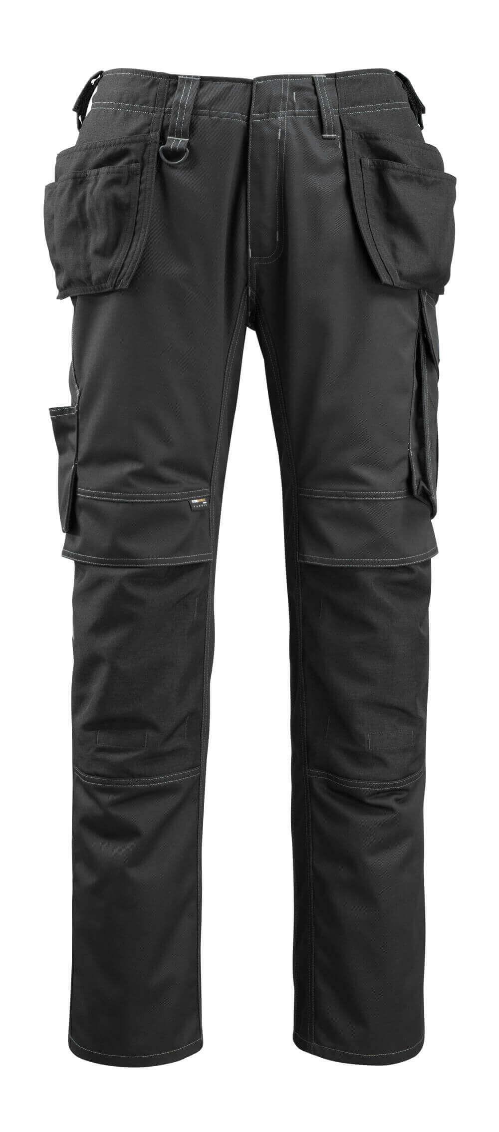 14131-203-09 Pantalones con bolsillos tipo funda - negro