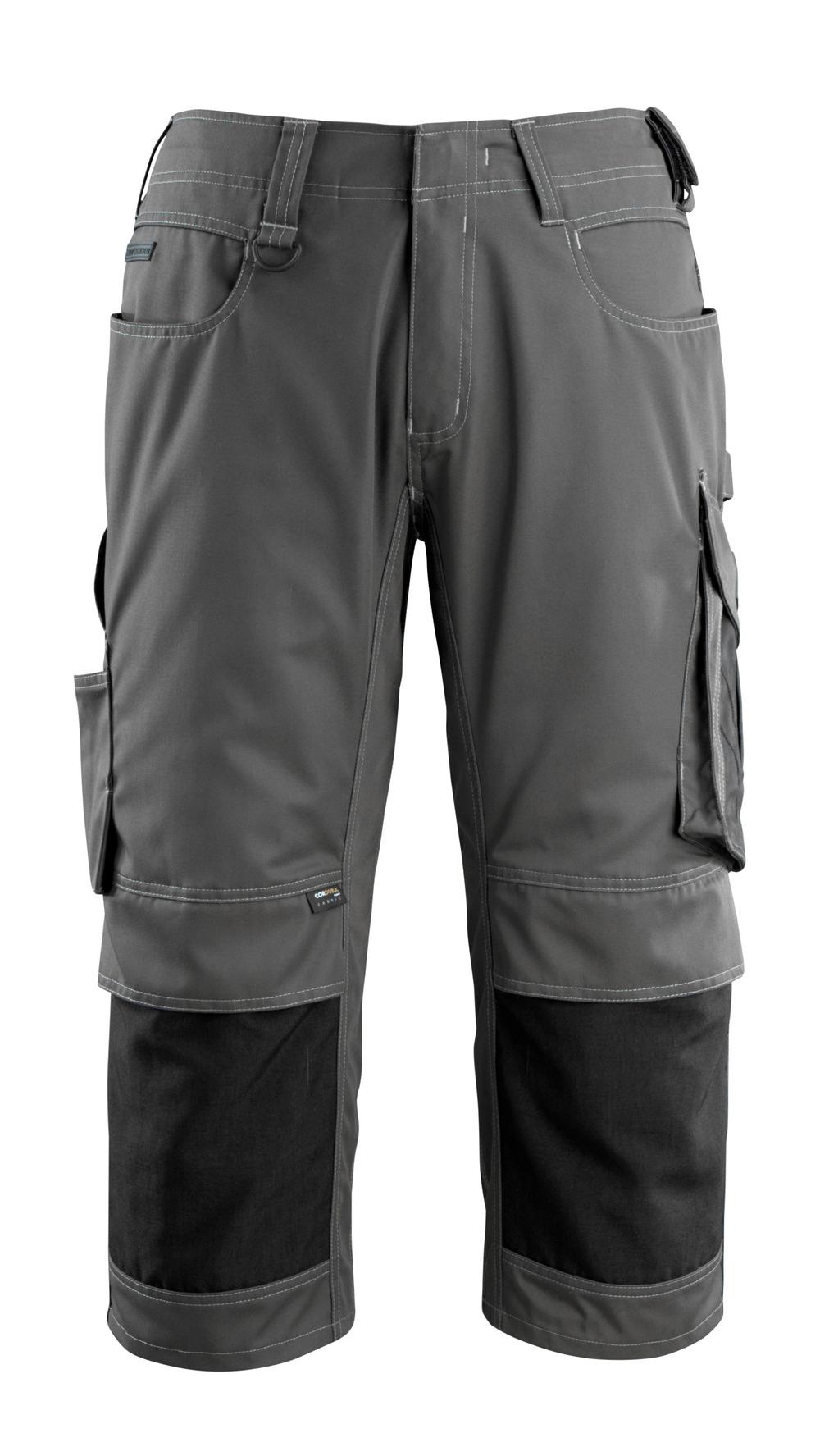 14149-442-1809 Pantalones con longitud de ¾ con bolsillos para rodilleras - antracita oscuro/negro