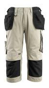 14349-442-5509 Pantalones con longitud de ¾ con bolsillos para rodilleras y bolsillos tipo funda - caqui claro/negro