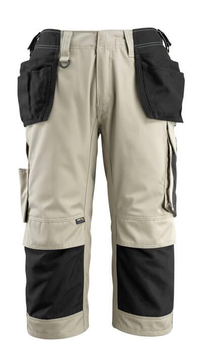 14349-442-0618 Pantalones con longitud de ¾ con bolsillos para rodilleras y bolsillos tipo funda - blanco/antracita oscuro