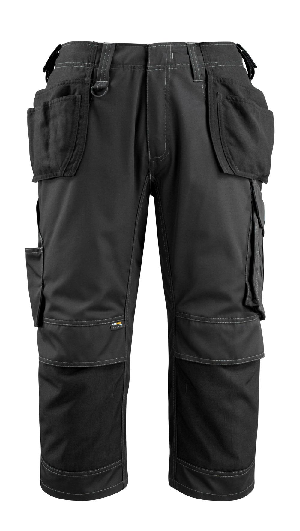 14449-442-09 Pantalones con longitud de ¾ con bolsillos para rodilleras y bolsillos tipo funda - negro