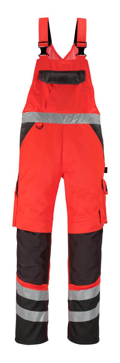 14969-860-A49 Peto con bolsillos para rodilleras - rojo de alta vis./antracita oscuro