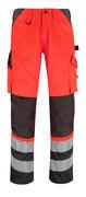 14979-860-A49 Pantalones con bolsillos para rodilleras - rojo de alta vis./antracita oscuro