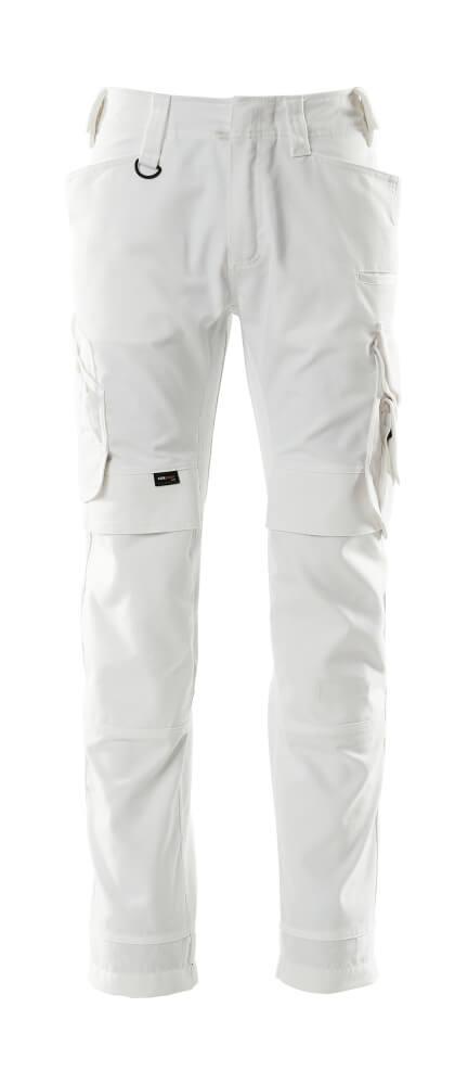 15079-010-06 Pantalones con bolsillos para rodilleras - blanco
