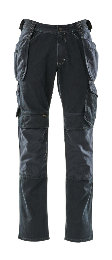 15131-207-86 Vaqueros con bolsillos para rodilleras y bolsillos tipo funda - azul vaquero oscuro