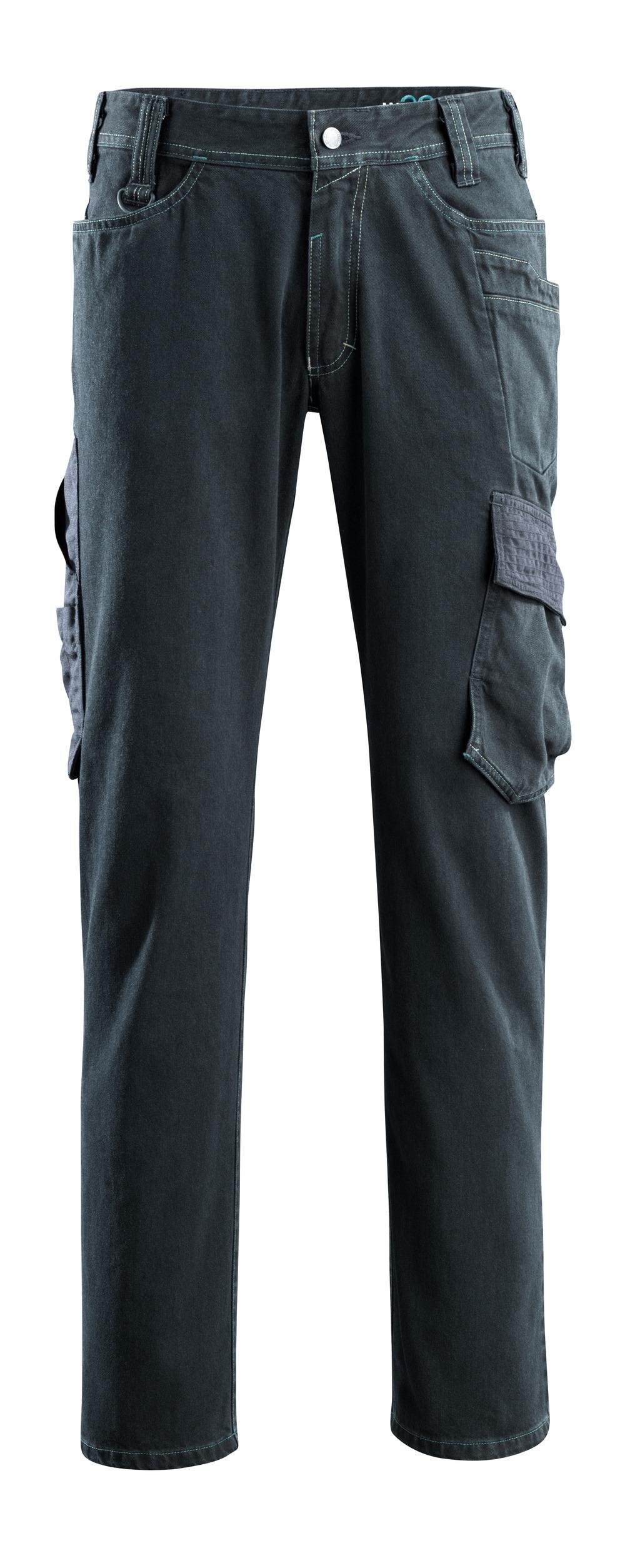 15279-207-86 Vaqueros con bolsillos de muslo - azul vaquero oscuro