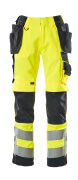 15531-860-14010 Pantalones con bolsillos tipo funda - naranja de alta vis./azul marino oscuro