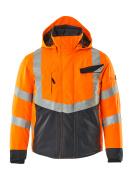 15535-231-14010 Chaqueta de invierno - naranja de alta vis./azul marino oscuro