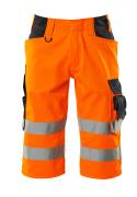 15549-860-14010 Pantalones con longitud de ¾ - naranja de alta vis./azul marino oscuro