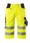 15549-860-17010 Pantalones con longitud de ¾ - amarillo de alta vis./azul marino oscuro