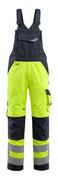 15569-860-17010 Peto con bolsillos para rodilleras - amarillo de alta vis./azul marino oscuro