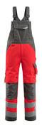 15569-860-22218 Peto con bolsillos para rodilleras - rojo de alta vis./antracita oscuro