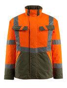 15935-126-1433 Chaqueta de invierno - naranja de alta vis./verde musgo
