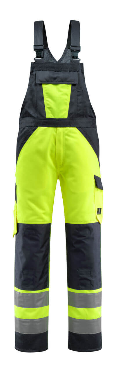 15969-948-14010 Peto con bolsillos para rodilleras - naranja de alta vis./azul marino oscuro