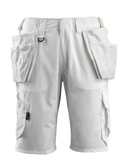 16049-230-06 Pantalones cortos con bolsillos tipo funda - blanco